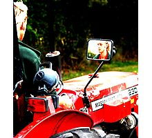 Farming Reflection Photographic Print