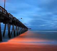 the pier at night by kathy s gillentine