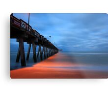 the pier at night Metal Print