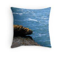 Sea and rock Throw Pillow