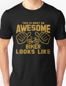 This is What an Awesome Biker Bicycle Looks Like Retro T-Shirt