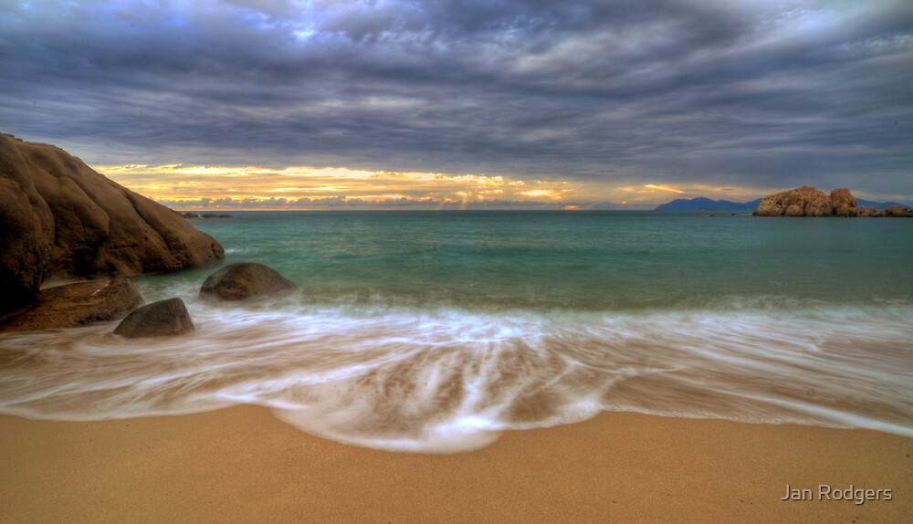 On the Beach at Sunrise by Janette Rodgers