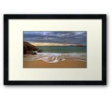 On the Beach at Sunrise Framed Print