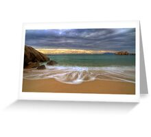 On the Beach at Sunrise Greeting Card