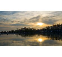 Strange Sunset Over Balaton Photographic Print