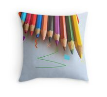 NEW PENCIL SKIRTS DESIGNED BY COLLEEN2012 THINKING  ...  OUTSIDE THE BOX! Throw Pillow