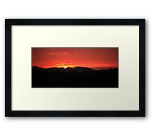 Sunrise over the  Smoky Mountains Framed Print