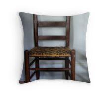 Rush Bottomed chair Throw Pillow