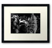 Could you just... for a moment? Framed Print