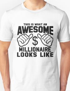 This is What an Awesome Millionaire Looks Like Retro T-Shirt