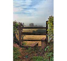 My morning walk! Photographic Print