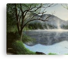 Clear Lake Morning Canvas Print