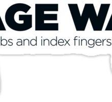 I Wage War! Sticker