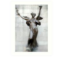 Statue at Saratoga Park Art Print