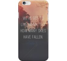 Fallen Skies iPhone Case/Skin