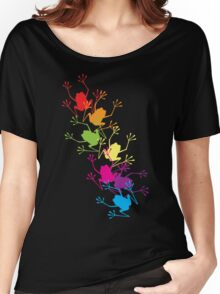 Rainbow Frogs Women's Relaxed Fit T-Shirt