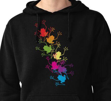 Rainbow Frogs Pullover Hoodie