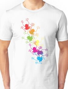 Rainbow Frogs Unisex T-Shirt