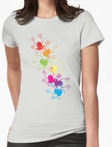 Rainbow Frogs Womens Fitted T-Shirt