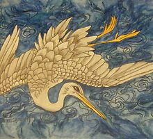 Crane on the Wind by Alexandra Felgate