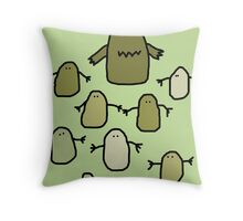 Monster Family Throw Pillow