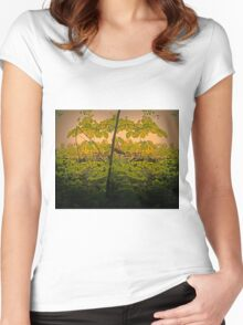 Pseudo mirror tree Women's Fitted Scoop T-Shirt