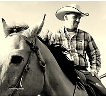 A Cowboy-Fighter Pilot Photographic Print