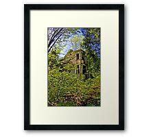 Gingerbread Victorian House Framed Print