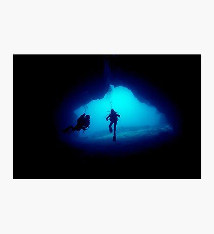 underwater cave Photographic Print