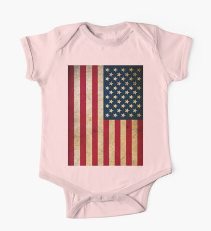 Vintage American Flag One Piece - Short Sleeve