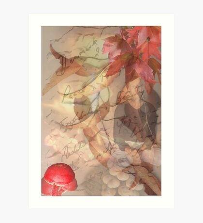 A bit of warmth on a cold rainy day. Art Print