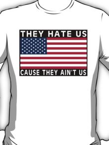 They Hate Us Cause They Ain't Us (USA) T-Shirt