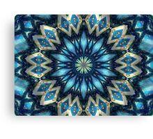 Blue Kaleidoscope Canvas Print