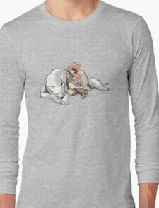 Petite Rouge en le Loup  Long Sleeve T-Shirt