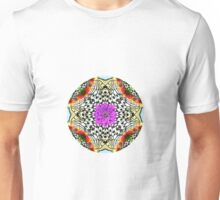 butterfly mandala with flowers Unisex T-Shirt