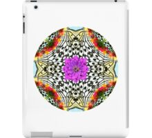 butterfly mandala with flowers iPad Case/Skin