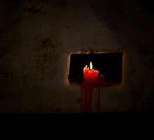 Red Winery Candle by Rob Beckett