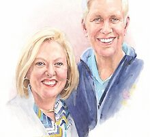 older couple watercolor by Mike Theuer