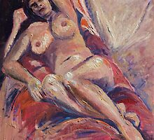 Trish in Oils. by Virginia McGowan