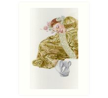 Young lady-Country girl.. Art Print