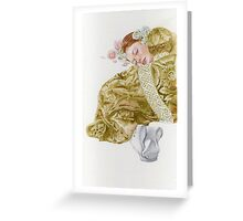 Young lady-Country girl.. Greeting Card