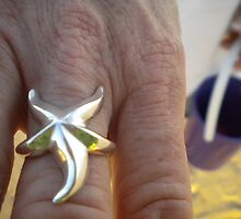 Silver Starfish & Pail by Emily Linn