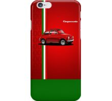 Fiat 500 period advert iPhone Case/Skin