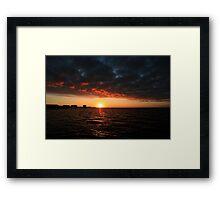 1/1/11 sunrise Framed Print
