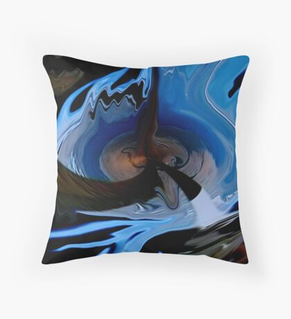 death of a planet abstract  Throw Pillow