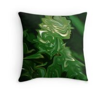 Rainy Day Leaf Abstract  Throw Pillow