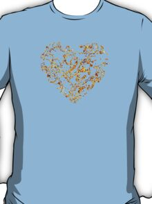 Lace Golden Heart (on black) T-Shirt