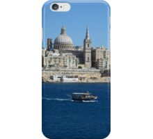 Valletta Waterfront and Colourful Luzzu Fishing Boat iPhone Case/Skin