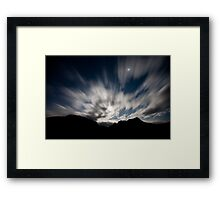 Moon Stream Framed Print