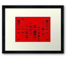 DNA Art Portrait - Firefly Framed Print